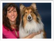 "Marina Anderson and Lulu, a cousin of ""Lassie"" TV Legend"